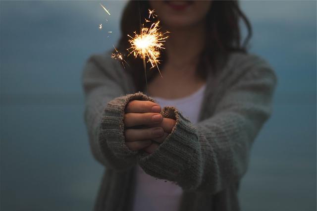sparkler from Pixabay