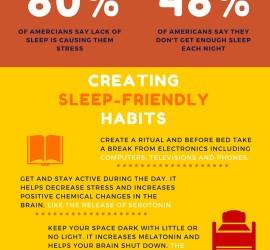 habits for better sleep infographic